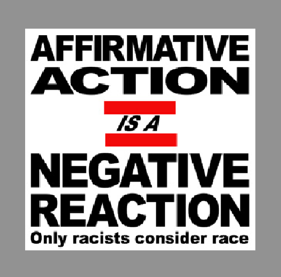 reverse discrimination as a repercussion of the affirmative action Number of important interactive and main effects of gender, class, age, and   keywords: reverse discrimination, affirmative action, race, gender, class.