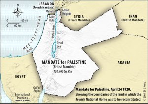 Map 1: Post-WWI British Mandate of Palestine